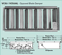 Model VCS3 Opposed Blade Dampers